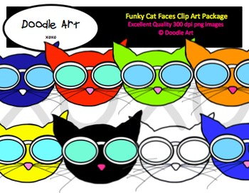 Cool Cat Clipart Pack