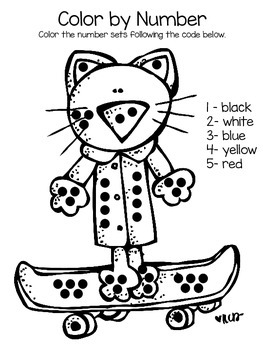 Cool Cat Color by Number