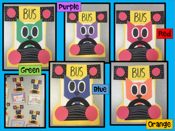 Cool Cat Colors Craft - Bus craftivity and writng project for back to school