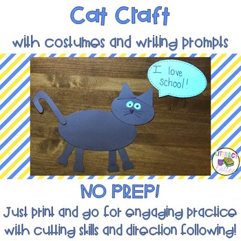 Halloween Craft: Cat with Costumes & Writing Prompts