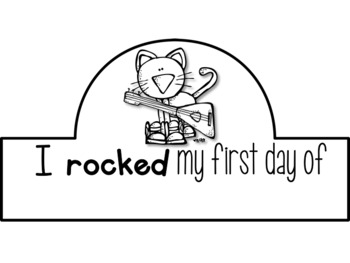 Cool Cat First Day of School Certificates and Hat {Kindergarten} 2016-2018