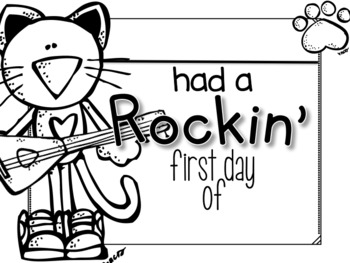 Cool Cat First Day of School Certificates and Hat {Second Grade} 2016-2018