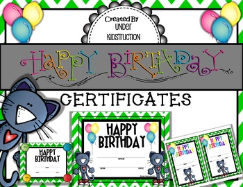 graphic regarding Printable Birthday Certificates titled Birthday Certificates Printable (Awesome Cat Concept)