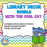 Cool Cat Library Posters Décor Set - BUNDLE