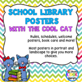 Cool Cat Library Decor Poster Set