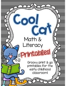 Cool Cat Math & Literacy Printables!