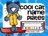 Cool Cat Name Plates