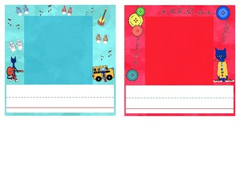 Pete the Cat Inspired Photo Nameplates