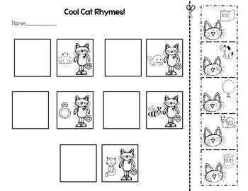 Cool Cat Rhyming Match-Up