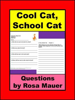 Cool Cat, School Cat Book Unit
