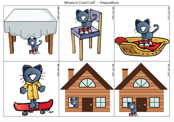 Cool Cat Speech/Language Packet for Speech Therapy