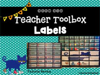 Cool Cat Teacher Toolbox Labels {Sea Breeze & Editable}