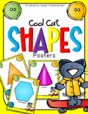 Shape Posters- Cool Cat Theme -  (2D and 3D)