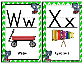 Cool Cat Theme Alphabet and Number Posters