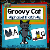 Groovy Cat Themed Alphabet Match-Up