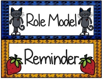 Cool Groovy Cat Themed Behavior Clip Chart