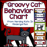 Cool Groovy Cat Themed Behavior Clip Chart
