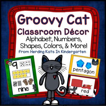 Groovy Cat Classroom Decor Bundle