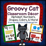 Groovy Cat Classroom Decor Bundle