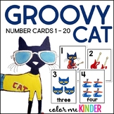 Groovy Cat Themed Number Cards 1-20