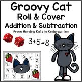 Groovy Cat Math Roll & Cover Addition & Subtraction Games