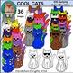 Cool Cats! Clip Art Set