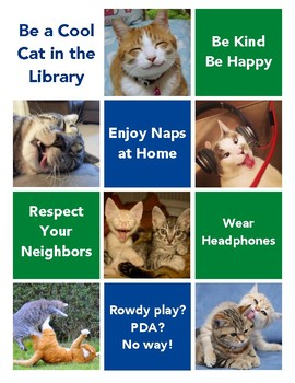 Cool Cats Library Poster