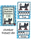 Cool Cats Number Posters 1-20
