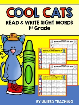 Cool Cats Read & Write Sight Words 1st Grade Edition