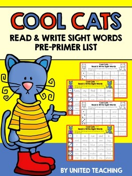 Cool Cats Read & Write Sight Words Pre-primer Edition