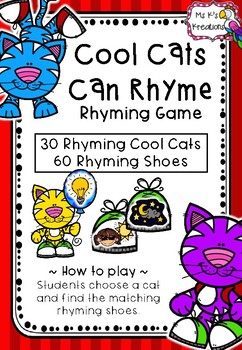Cool Cats Rhyming Game