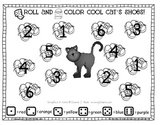 Cool Cat's Roll and Color Numbers Math Center