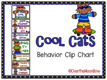 Cool Cats Themed Behavior Clip Chart