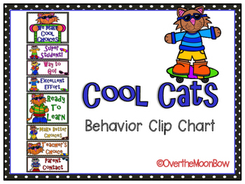 Cool Cats Themed Behavior Clip Chart