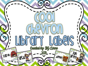 Cool Chevron Classroom Library Labels