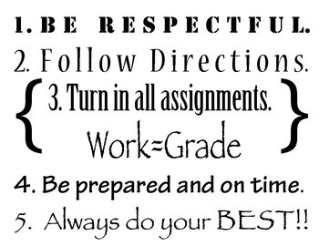 Cool Classroom Rules