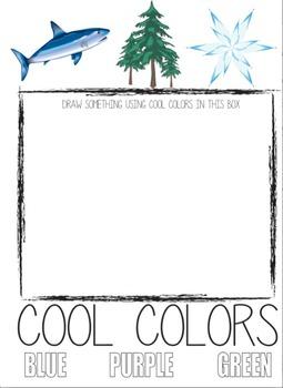 Cool Colors Art Worksheet