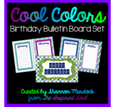 Cool Colors Birthday Bulletin Board Set