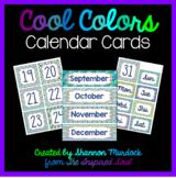 Cool Colors Calendar Cards