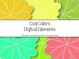 Cool Colors Elements Clipart