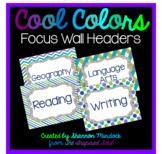 Cool Colors Focus Wall Headers