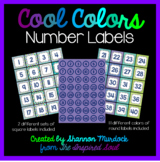 Cool Colors Number Labels