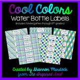 Cool Colors Water Bottle Labels