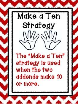 Cool Common Core Addition Strategy Bulletin Board Set