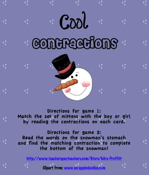 Cool Contractions (2 Games Included!)