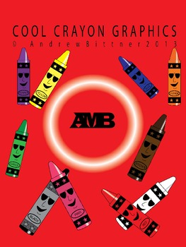 Cool Crayon Graphics! Original Crayon Clipart Creations (Set of 10)