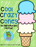 Cool Crazy Cones {An Alliteration Freebie}