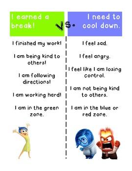 Cool Down / Calm Down BREAK Posters