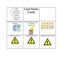 Cool Down Cards  {editable}