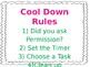 Cool Down Corner Signs
